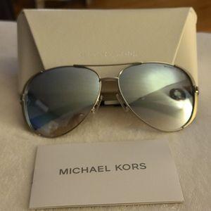Michaels Kors Blue & Silver Aviator sunglasses